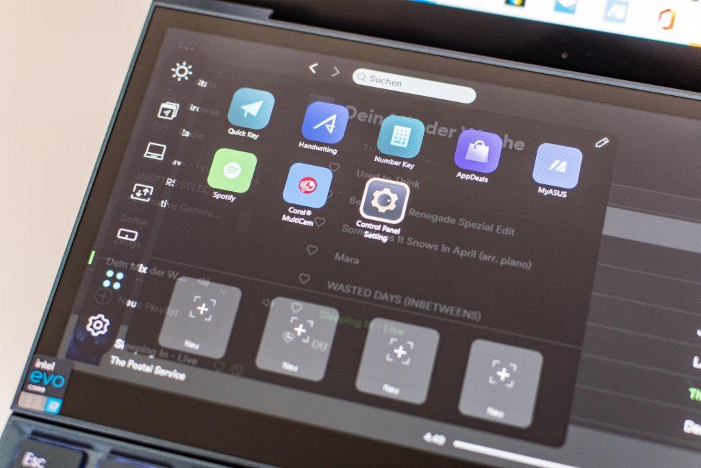 Das Zweitdisplay des Asus ZenBook Duo 14 bietet allerhand Anpassungsmöglichkeiten.