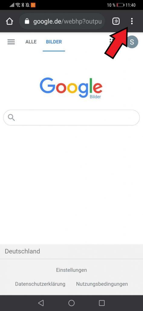 Google Bildersuche auf dem Smartphone öffnen