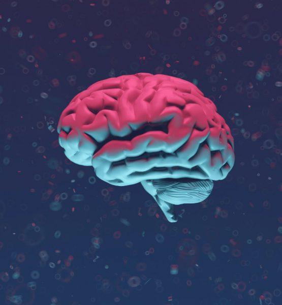 Buntes Gehirn, das Künstliche Intelligenz darstellen