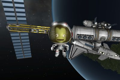 Ein Satellit in Kerbal Space Program