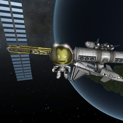 Ein Satellit in Kerbal Space Program