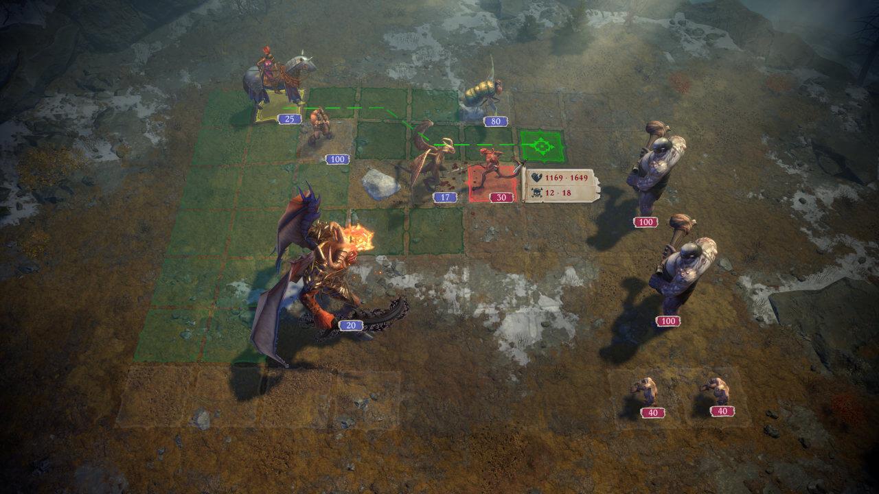 Taktischer Kampf in Pathfinder: Wrath of the Righteous hat was von den alten Hereos of Might and Magic-Spielen