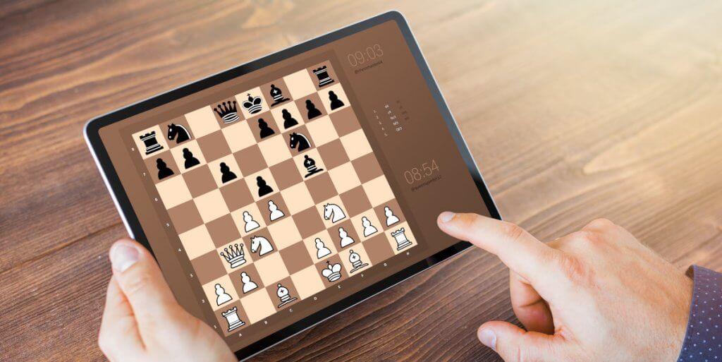 Schach online auf tablet