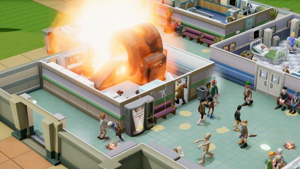 Eine Maschine im Krankenhaus explodiert