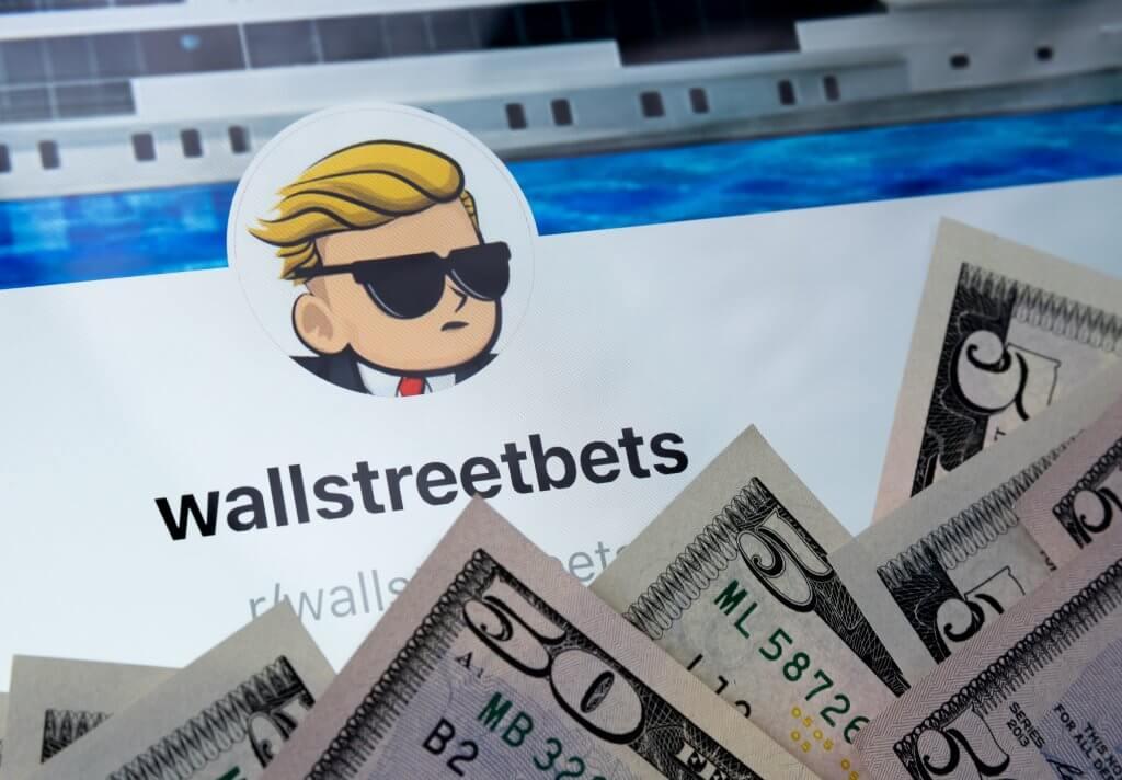 wallstreetbets logo plus geld