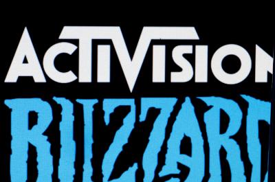 Activision Blizzard Firmenlogo in schwarz weiß