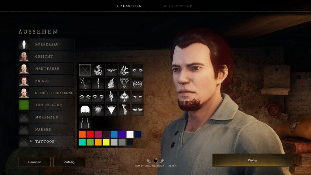 Charaktereditor in New World mit eher wenig Möglichkeiten
